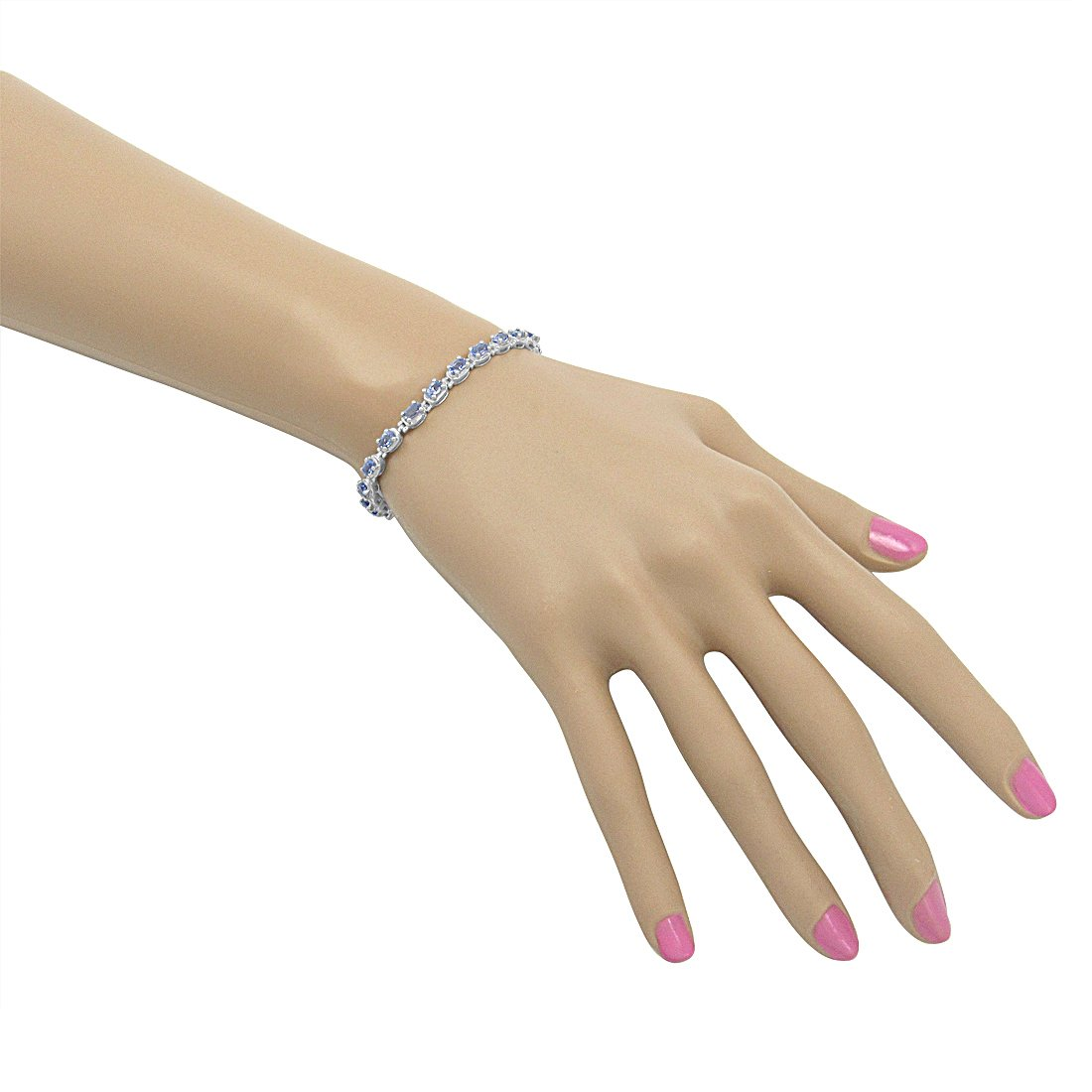 Tanzanite Tennis Bracelet Crafted in Sterling Silver( 7 1/4 inch) by Amanda Rose Collection (Image #3)
