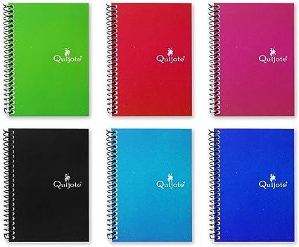 CL0000 - Pack de 12 libretas, 80 hojas de cuadros, espiral lateral, tapa blanda, tamaño (7,5x10,5cm): Amazon.es: Oficina y papelería