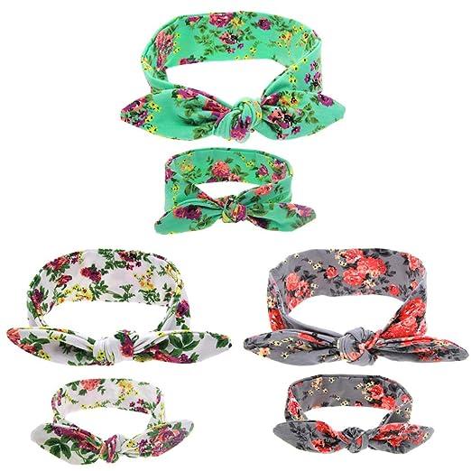 Palm Tree Print stretch headband Mommy Me set Single baby headband