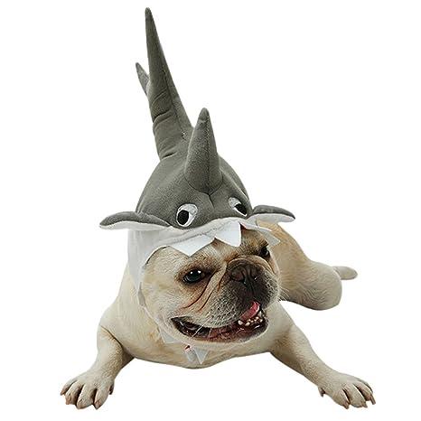 FREAHAP R - Gorro de tiburón para Gatos o Fiestas, Diadema para Mascotas pequeñas