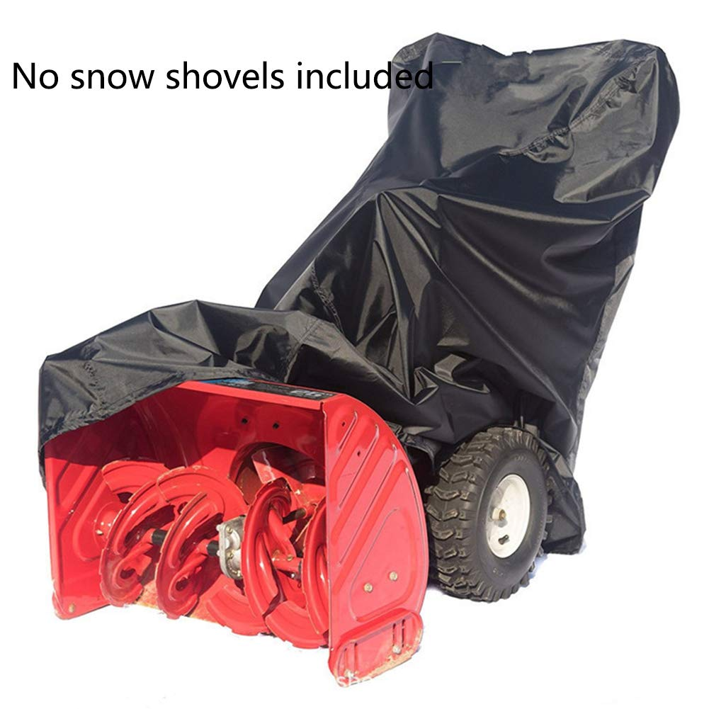 Universal Snow Thrower Cover,Heavy Duty Polyester Outdoor Snow Blower Protector Cover,Waterproof Dustproof Snow Thrower Cover with Carry Bag (Black) by Feian