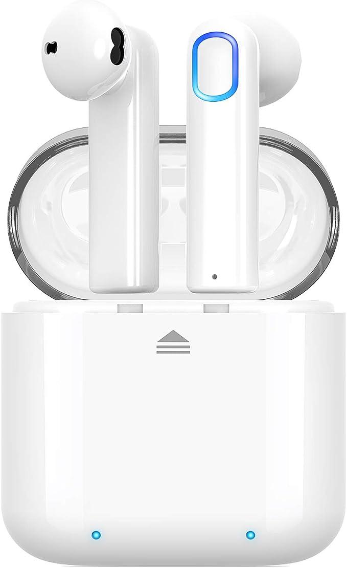 35H Akku und Tragbare Ladeh/ülle IPX5 Wasserdicht mit Automatische Kopplung Cshidworld Bluetooth Kopfh/örer Kabellose mit Bluetooth 5.0 Sport-In-Ear-Kopfh/örer und Stereo-Mini-Headset mit Mikrofon