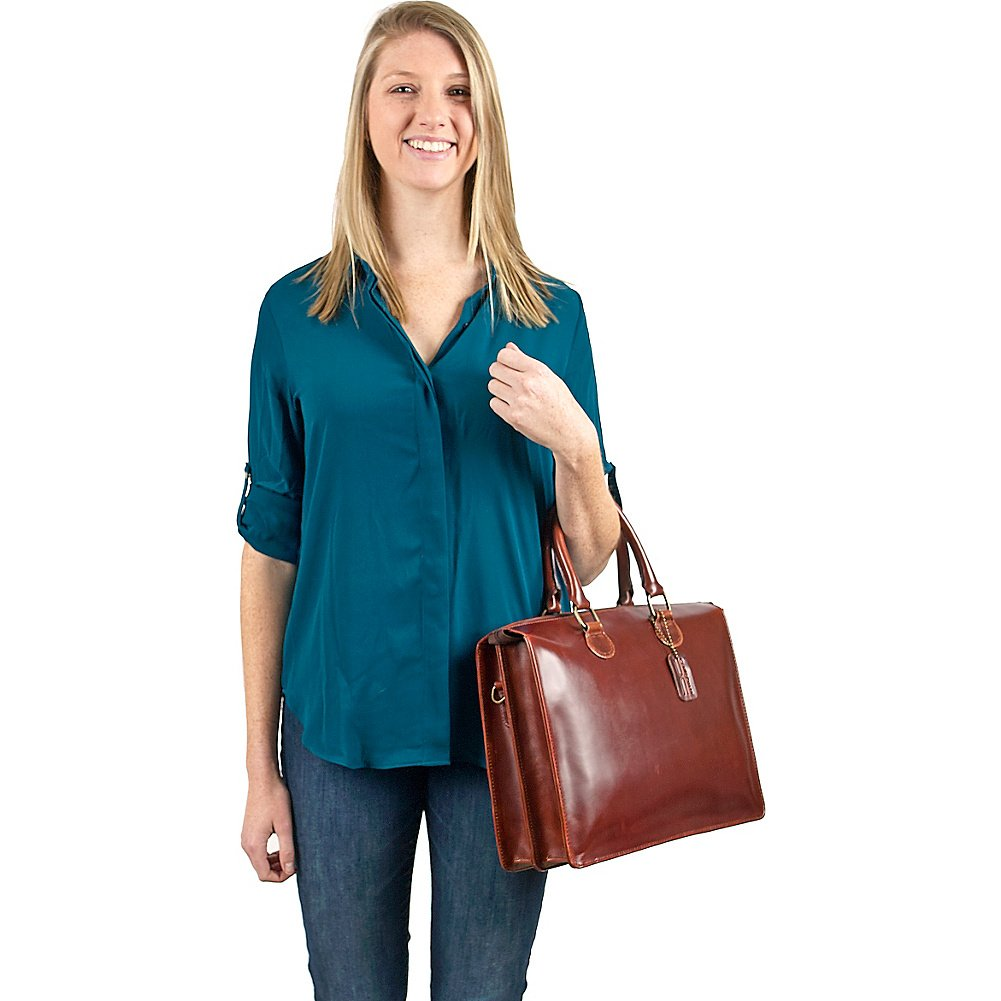 Tan One Size Claire Chase Brussels Briefcase