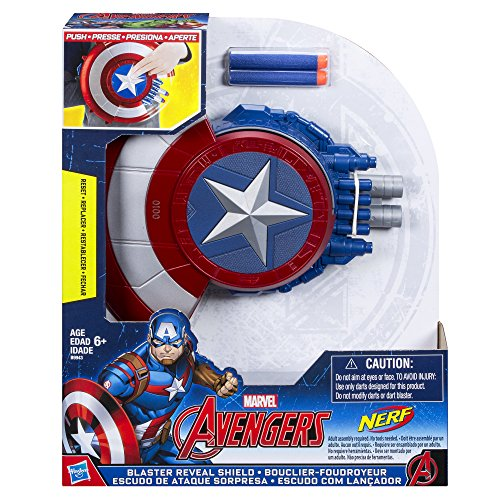 Avengers Marvel Captain America Blaster Reveal Shield