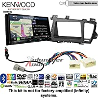 Volunteer Audio Kenwood Excelon DNX994S Double Din Radio Install Kit with GPS Navigation Apple CarPlay Android Auto Fits 2011-2013 Kia Optima
