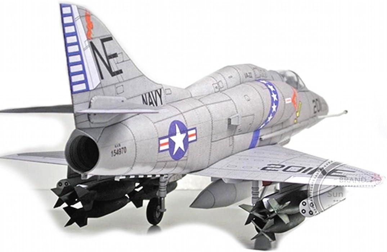 ARUNDEL SERVICES EU Aereo da caccia 3D American Douglas A-4 Skyhawk Modello di carta 01:32 aereo Carta Lavoro Puzzle Gioco di fai da te Piano del modello