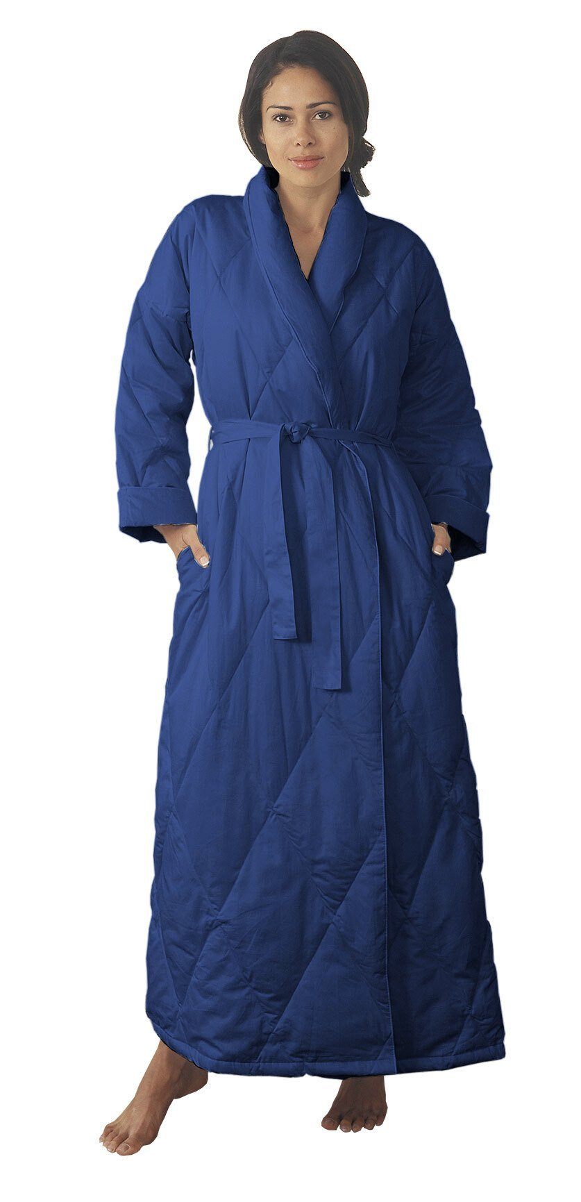 Warm Things Quilted Down Robe Navy / S 8-10