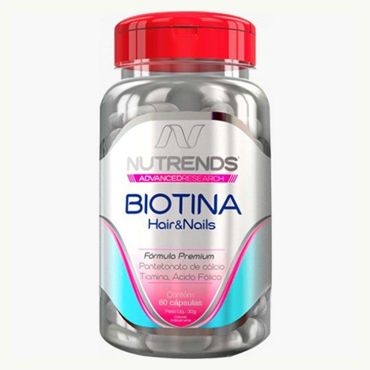 Biotina Hair&Nails 450mg 60 cápsulas, Nutrends