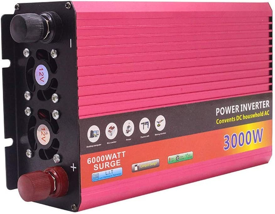 KDDD Auto 3000W Car Home Outdoor Alta tasa de conversión de Alta Potencia con convertidor USB Power Converter Inverter Car, 12V ~ 220V Productos de Calidad Duradero