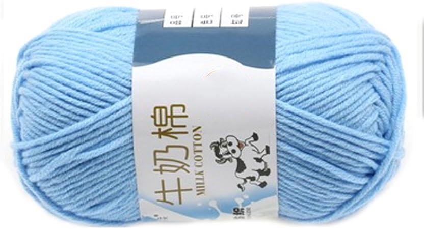 Suave Suave Leche de algodón natural de la mano de tejer lana de ...