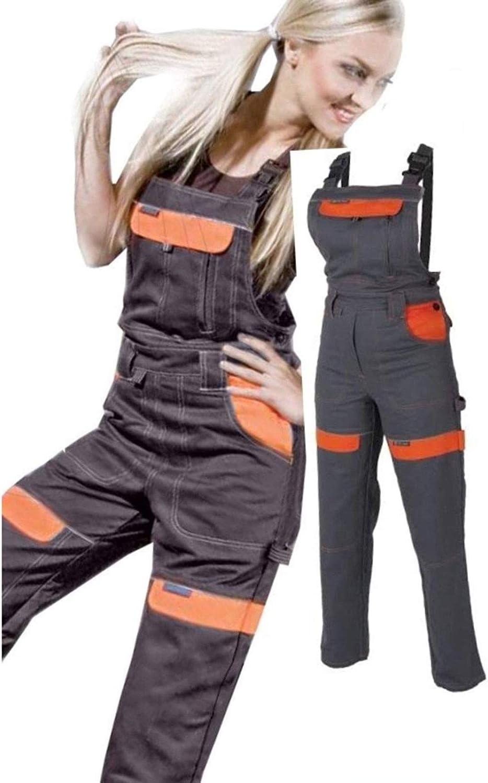 mujeres y ni/ñas de los pantalones de peto de trabajo pantalones del babero Trabajan pantalones para Pantalones al jard/ín 42 EU mujer