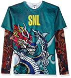 Faux Real Men's SNL Stefon Tattoo Printed T-Shirt, Green, XL