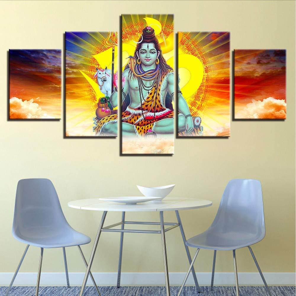 QThxqa Lona HD huellas Pintura Sala de arte de pared de 5 ...