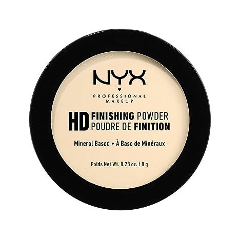 NYX Professional Makeup Polvos fijadores High Definition Finishing Powder, Polvos compactos, Unifica la piel, Acabado mate, Absorbe brillos, Fórmula ...