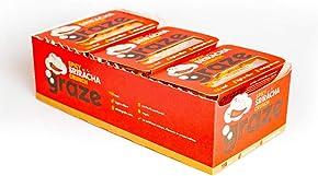 Graze Spicy Sriracha Crunch 26g (Pack of 9) - Vegan Food