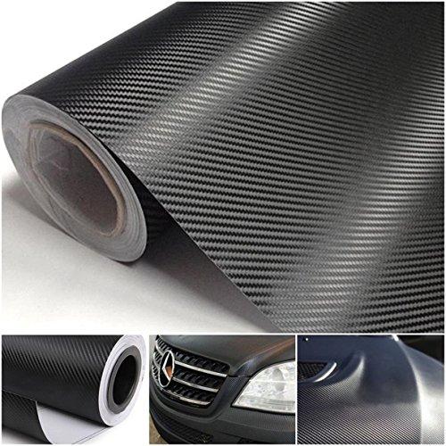 1-Sheet Enormous Modern 3D Carbon Fiber Car Stickers Vinyl Film Auto Wrap Labtop Cover Size 20