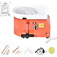 HUKOER Rueda de cerámica eléctrica naranja, máquina formadora