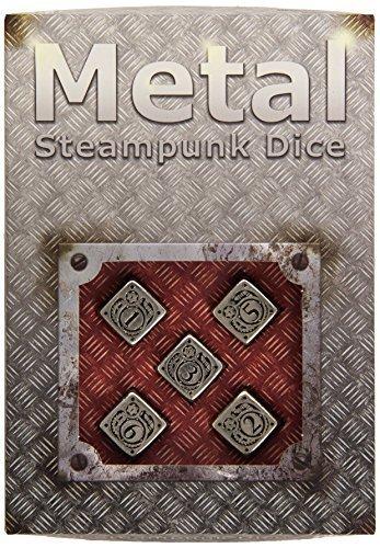 Steampunk Metal D6 Dice, Set of 5 by Q Workshop 4