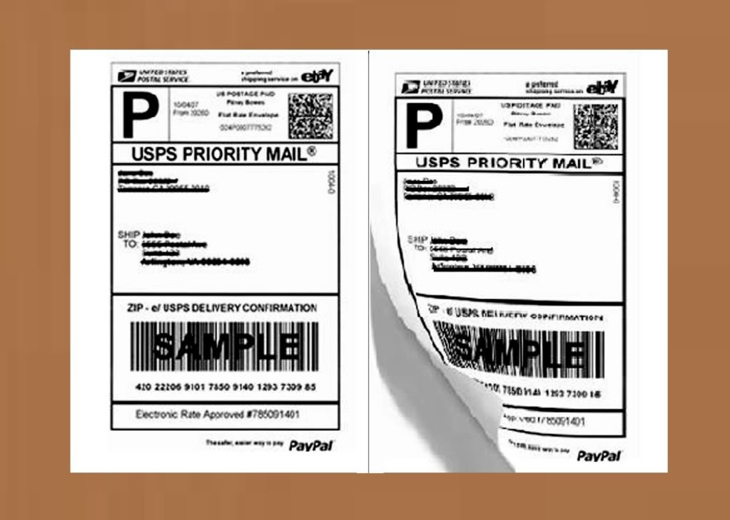 AmazonCom  Half Sheet Self Adhesive Shipping Labels For Laser