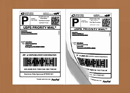 amazon com half sheet self adhesive shipping labels for laser
