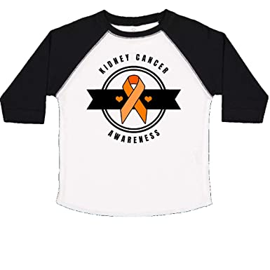 inktastic Kidney Cancer Awareness with Orange Ribbon and Banner Baby T-Shirt