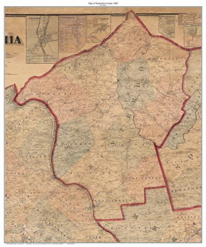 Hunterdon County New Jersey 1860 - Custom Wall Map with Homeowner Names - Old Map - Hope Mount Jersey New