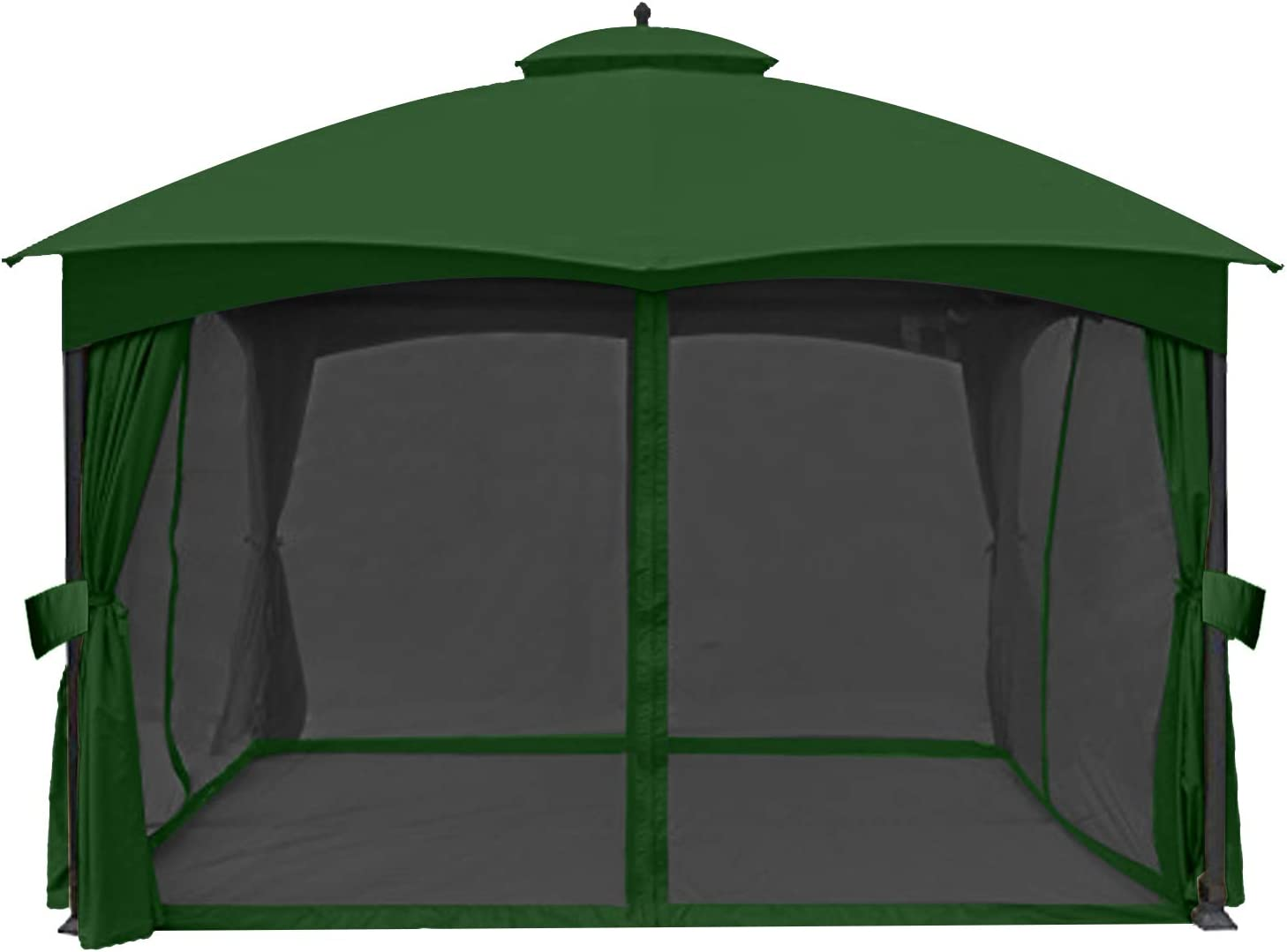 ABCCANOPY Universal 10' x 12' Gazebo Replacement Mosquito Netting Walls (Forest Green)