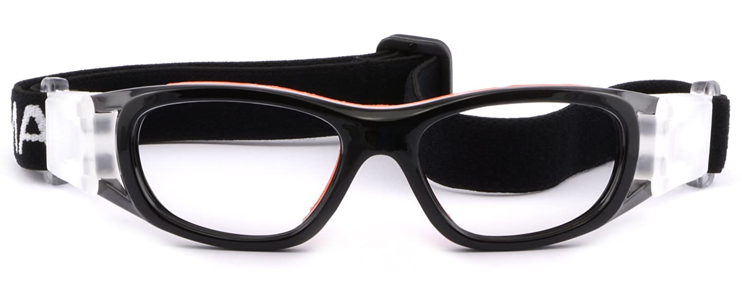 1573b3d4c6 Kids  Rx Sports Protection Goggles Prescription Safety Glasses Wrap Around  Black