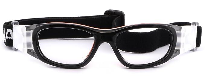 ba2ba178e6e Image Unavailable. Image not available for. Colour  Kids  Rx Sports  Protection Goggles Prescription Safety Glasses Wrap Around Black