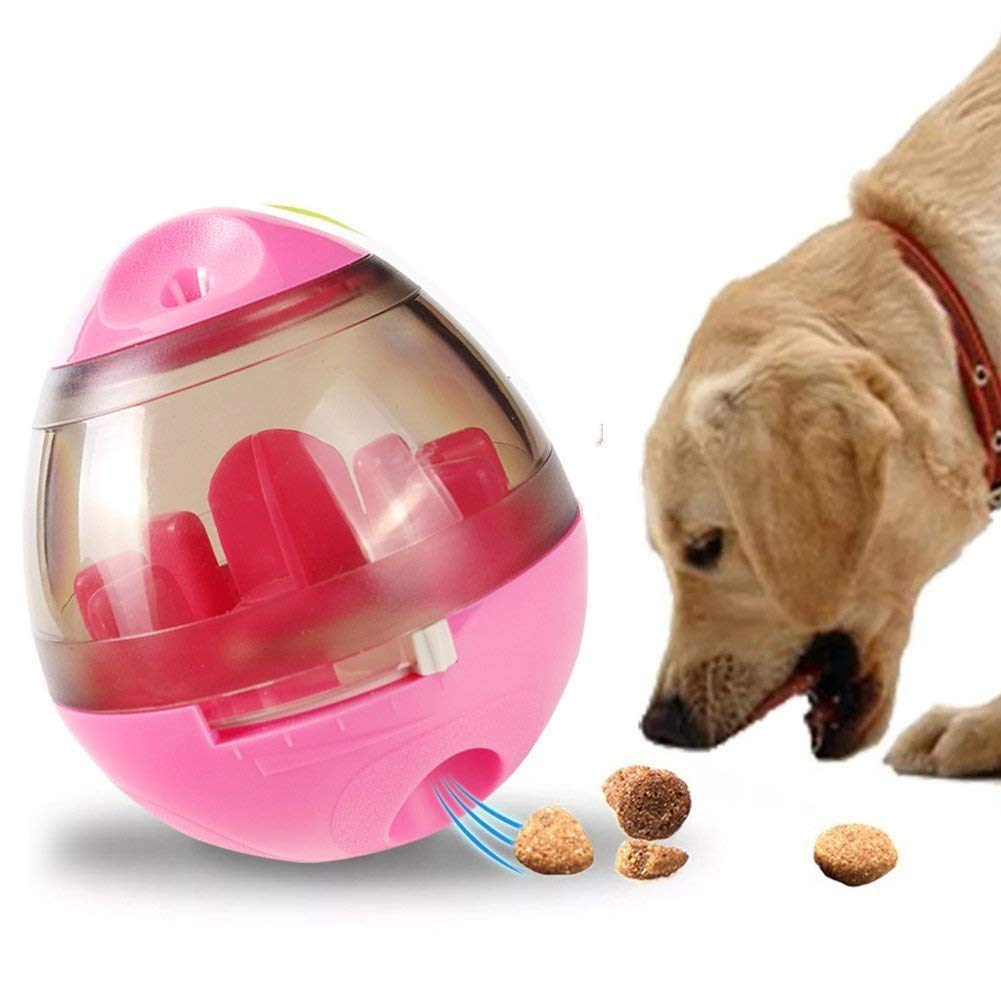 Dog Food Ball, IQ Treat Ball Bite Toys Chewing Food Ball, Fun and Interactive Treat, Feeding Training Puppy for Dogs and Cats, Best Alternative to Bowl Feeding