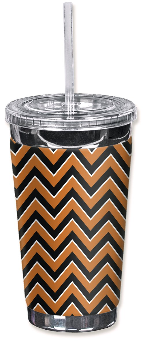 Mugzie 985-TGC'Texas Chevron' To Go Tumbler with Insulated Wetsuit Cover, 16 oz, Black