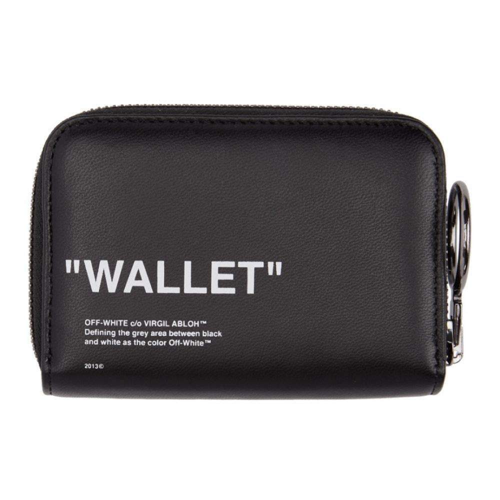 3c7993b9237e Amazon | (オフ-ホワイト) Off-White レディース 財布 Black Quote Zip Wallet [並行輸入品] | 財布