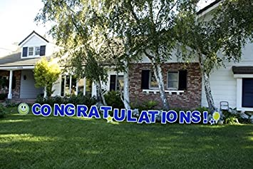 outdoor yard sign announcement individual letters measure 18 inches in height and come