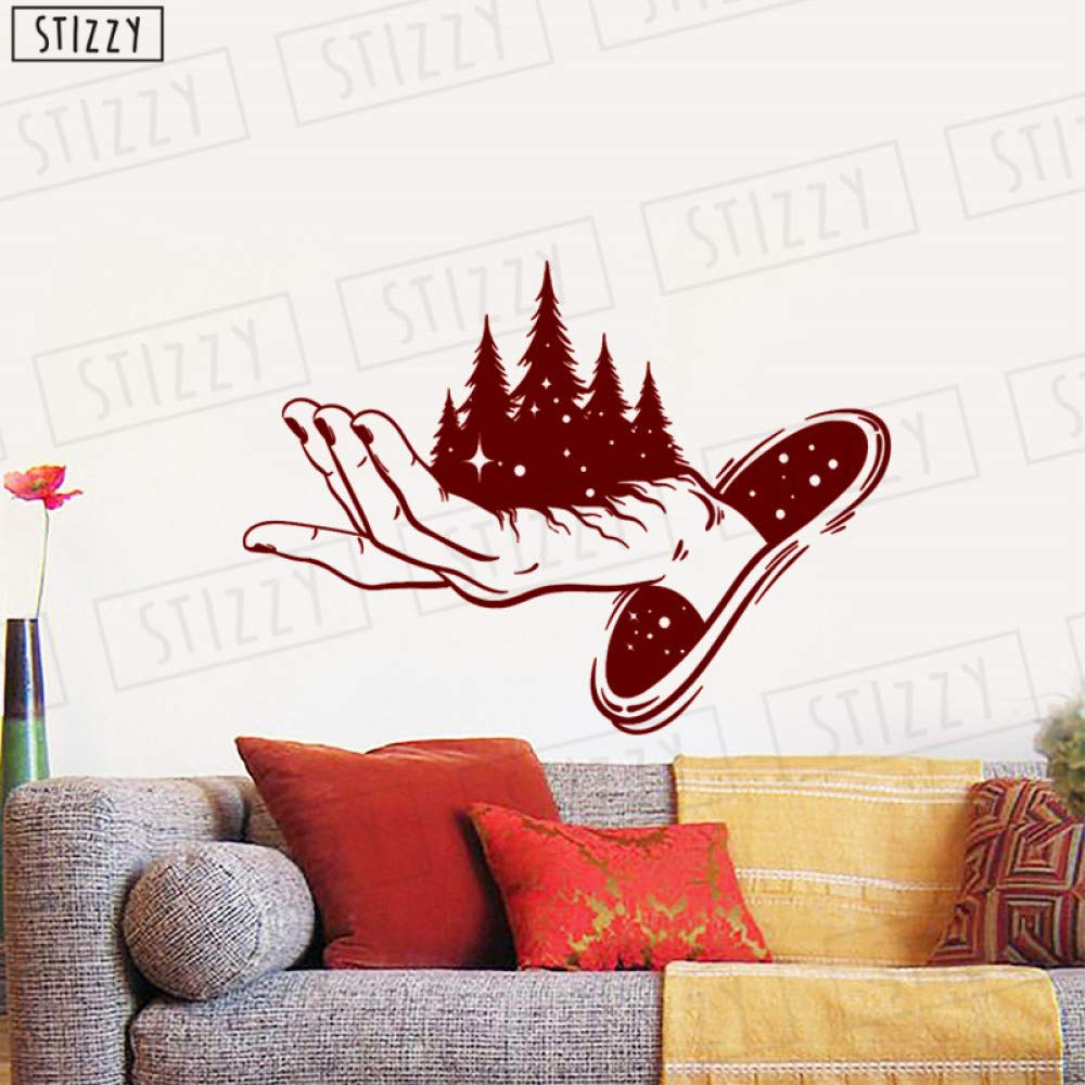 zhuziji Tatuajes de Pared Magic Forest Hand Pegatinas de Pared ...