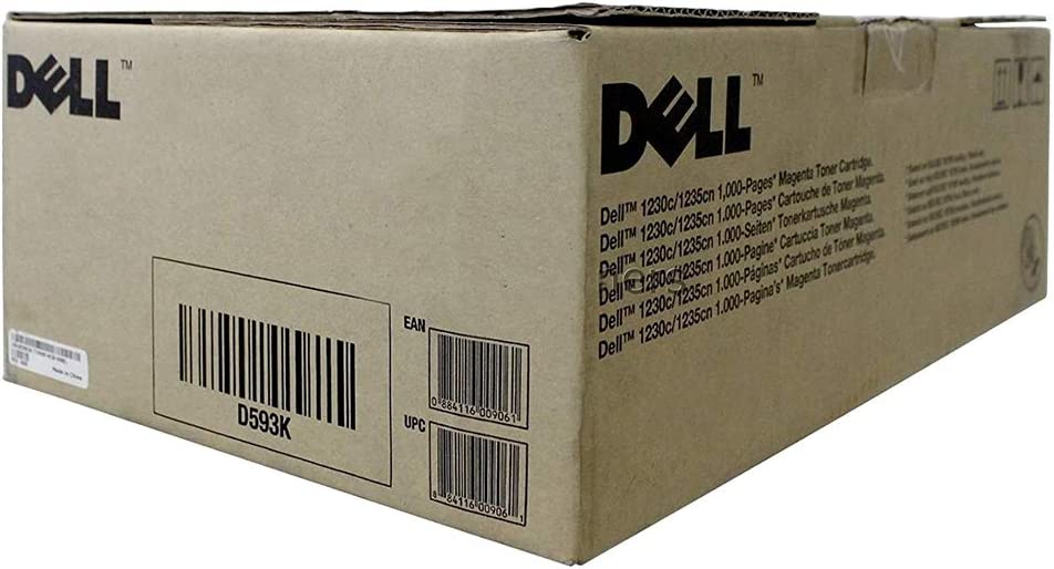 Dell 1230c, 1235cn Magenta Toner (1,000 Yield) (OEM# 330-3580), Part Number D593K by Dell