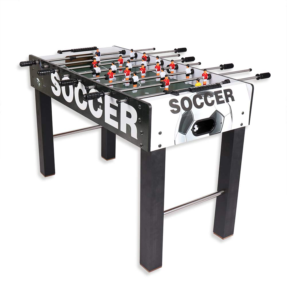 4FT X 2FT FREE-STANDING WOODEN FOOSBALL TABLE FOOTBALL SOCCER GAME WITH 2 BALLS Deals Online FTABLE