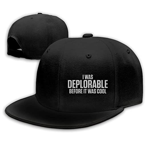 LANGEGE I was Deplorable Before It was Cool Political Baseball Cap Classic  Adjustable Plain Hat for Men and Women at Amazon Men s Clothing store  07c7d24d8be