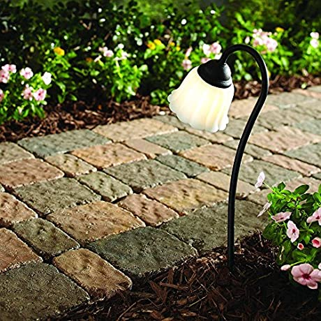Hampton Bay Low Voltage LED Black Tulip Path Light
