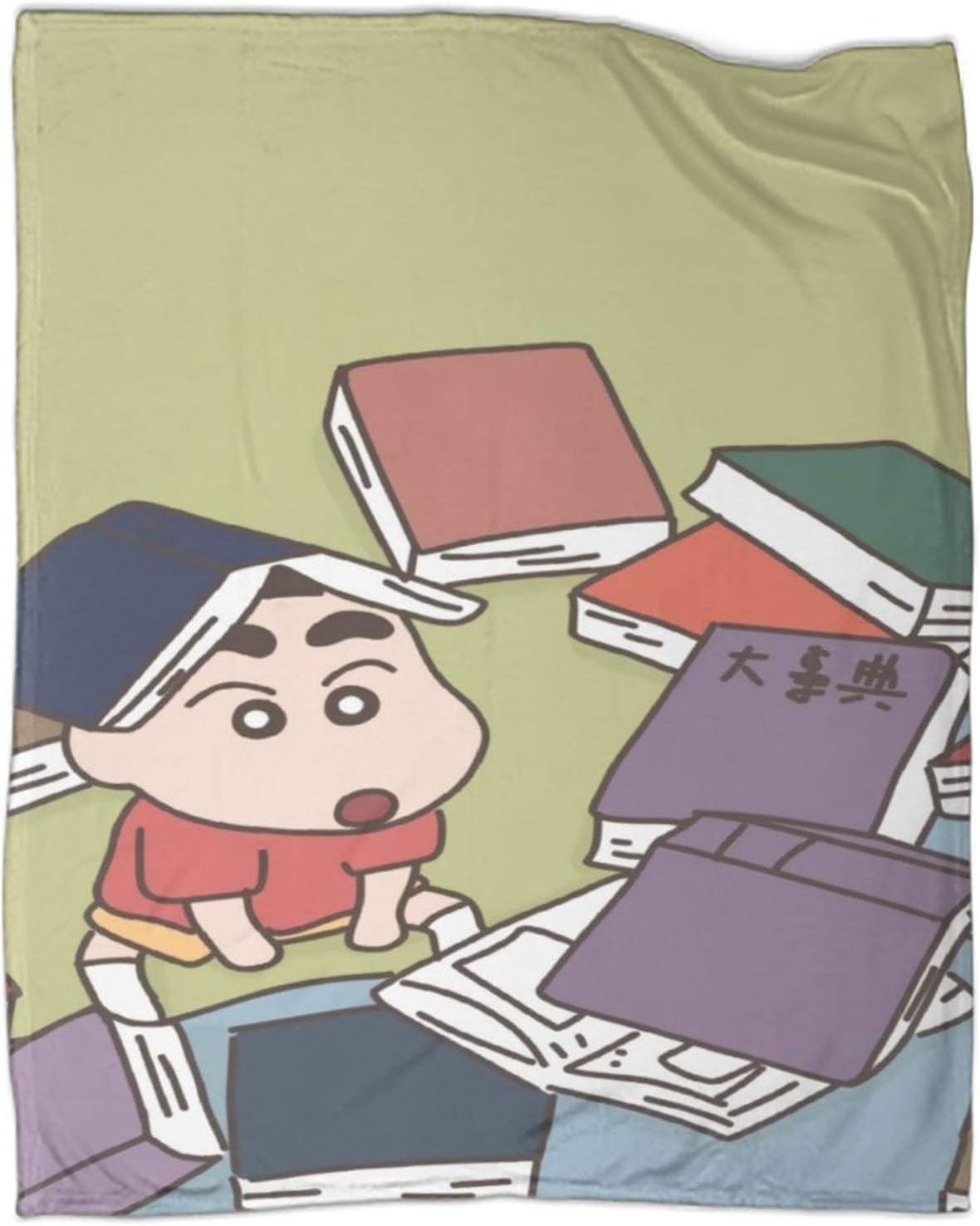 Crayon Shin-chan Shinchan'Dog Shiro Cartoon Comics Bedroom Warm Blanket Warm Home Bed Sofa 60x80inch(150x200cm)