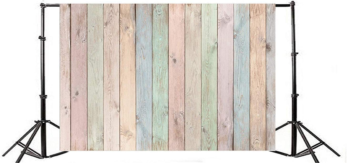 10x7ft Grunge Faded Colorful Wood Texture Board Backdrop Vinyl Rustic Vertical Striped Wood Plank Background Child Adult Artistic Portrait Kid Clothes Dolls Toys Shoot Countryside