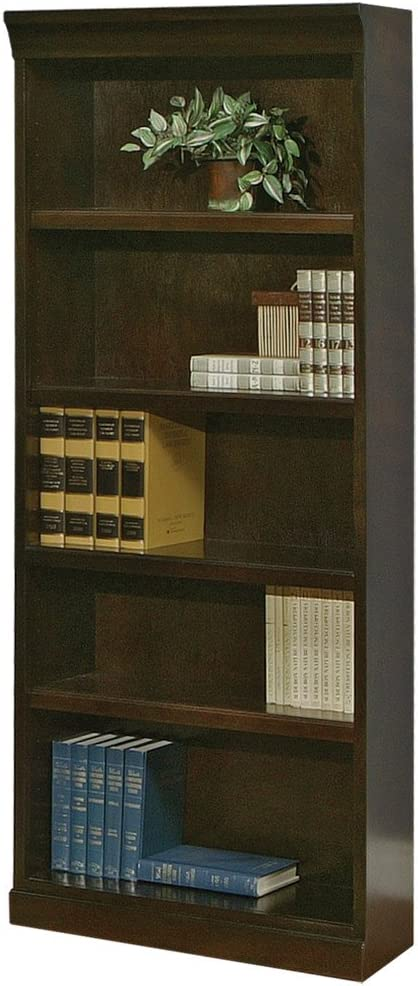 Martin Furniture Fulton Bookcase, Fully Assembled, Brown