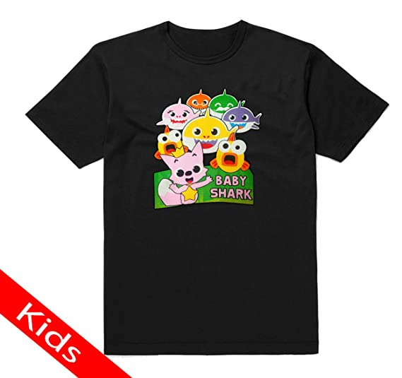 b1be8b3d01f Amazon.com  Kids T-Shirt Printed with Baby Shark Design  Clothing