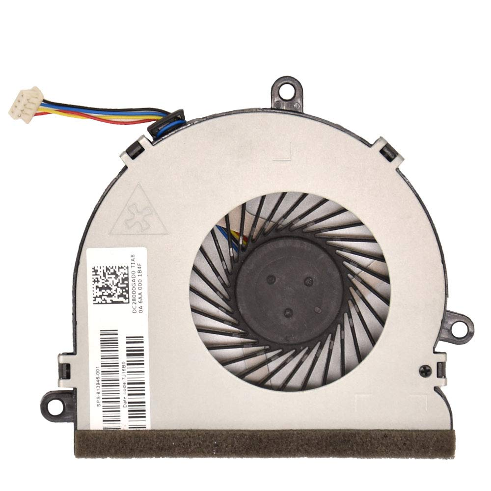 BAY Direct Replacement CPU Cooling Fan for HP 15-ba007ds 15-ba009cy 15-ba009ds 15-ba009dx 15-ba007cl 15-ba007cy 15 -ba010ds 15-ba008ca 15-ba008ds 15-ba018cy P/N: FGKB SPS-813946-001 DC28000GAF0