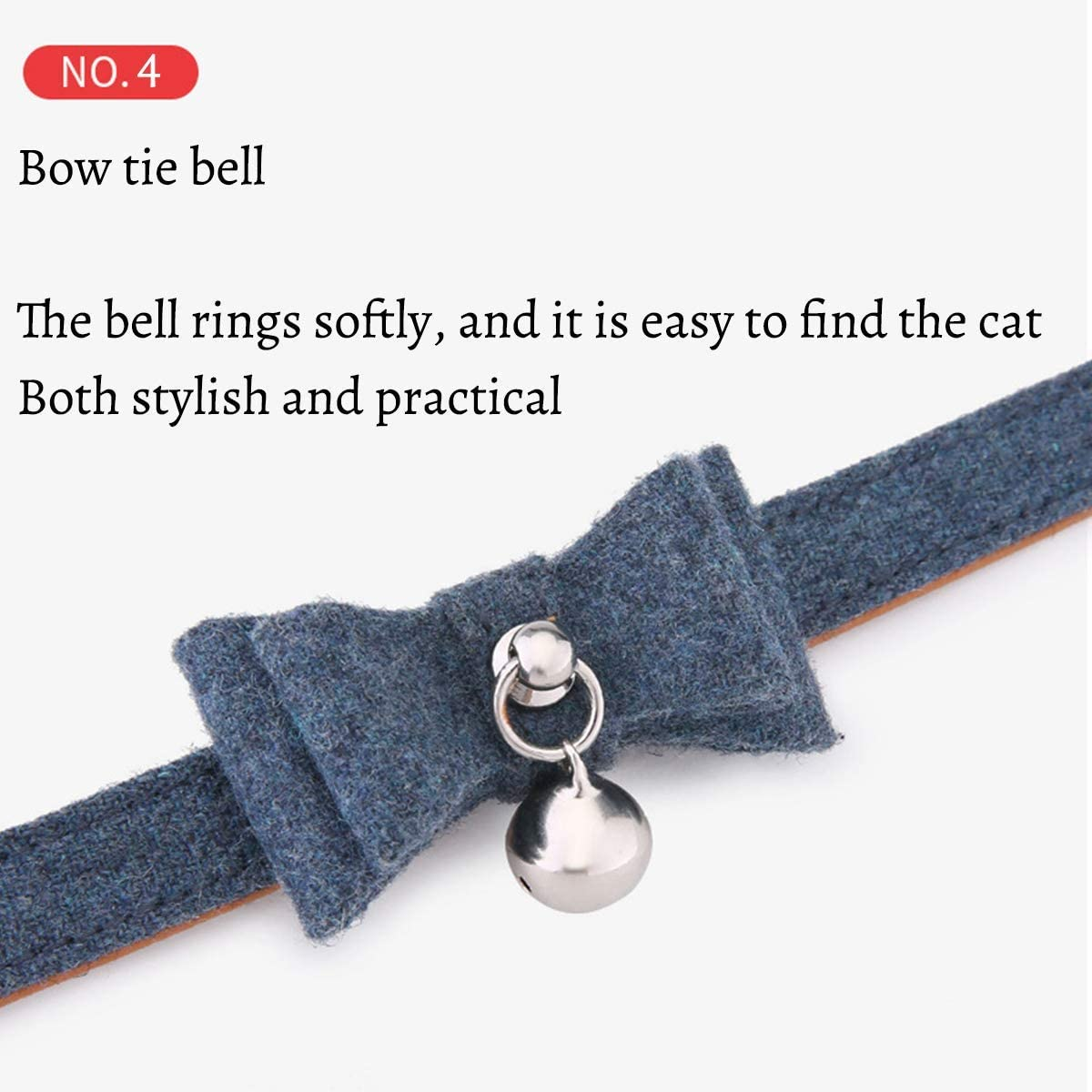 MOUISITON Cat Collars with Bell Cat Safety Collar Kitten Collar for Cat with Classic Color Collection