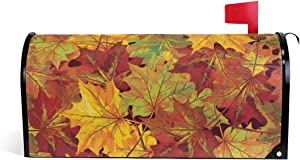 WOOR Thanksgiving Autumn Fall Leaves Magnetic Mailbox Cover MailWraps Garden Yard Home Decor for Outside Oversized-25.5