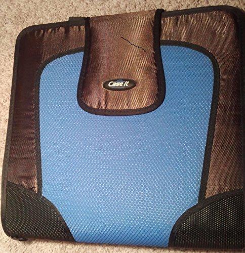 Case-it S-815 Velcro Closure Binder, Blue