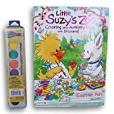 Little Suzys Zoo Easter Fun Coloring and Activity Book with Stickers and Watercolor Paints