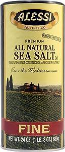 ALESSI - Fine Mediterranean Sea Salt, (2)-24 OZ Pkgs