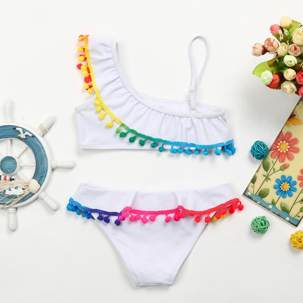 FORESTIME/_baby clothes girl Baby Girl Swimsuit,Girls Ruffles Tassle Bathing Outfits Suit Infant Swimwear Bikini