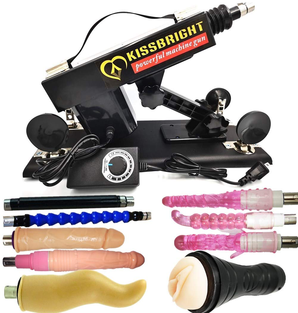 Multispeed Telescopic Machine Gun with Thrusting Buffer Protection Different Attachments Automatic Massage